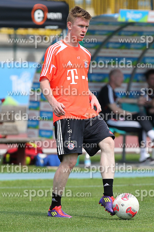 20.07.2012, Stadion, Arco, ITA, FC Bayern Muenchen Trainingslager, im Bild Kevin FRIESENBICHLER (FC Bayern Muenchen), Freisteller, Aktion /Action // during a Trainingssession of the German Bundesliga Club FC Bayern Munich at the Stadium, Arco, Italy on 2012/07/20. EXPA Pictures © 2012, PhotoCredit: EXPA/ Eibner/ Alexander Neis..***** ATTENTION - OUT OF GER *****