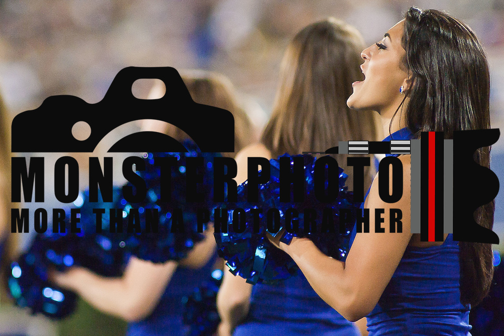 University of Delaware cheer leaders  pumps up the students section during a Week 2 NCAA football game against Westchester. ..#8 Delaware defeated Westchester 31-10  in their home opener at Delaware Stadium Saturday Sept. 10, 2011 in Newark DE...Delaware will return home Sept. 17, 2011 for a showdown with interstate Rival Delaware State at 6:pm at Delaware Stadium. (Monsterphoto/Saquan Stimpson)
