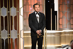 Jan 8, 2017 - Beverly Hills, California, U.S - LEONARDO DICAPRIO presents the Golden Globe for BEST ACTRESS - MOTION PICTURE, DRAMA the 74th Annual Golden Globes Awards at the Beverly Hilton in Beverly Hills, CA on Sunday, January 8, 2017. (Credit Image: ? HFPA/ZUMAPRESS.com)