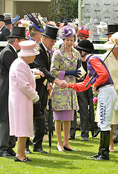 HM The QUEEN, HRH The DUKE OF EDINBURGH and HRH The PRINCESS ROYAL at day two of the Royal Ascot 2016 Racing Festival at Ascot Racecourse, Berkshire on 15th June 2016.