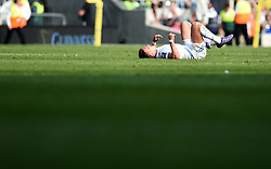 Exeter Chiefs outside centre Henry Slade cuts a dejected figure on the final whistle  - Mandatory by-line: Joe Meredith/JMP - 28/05/2016 - RUGBY - Twickenham - London, England - Saracens v Exeter Chiefs - Aviva Premiership Final
