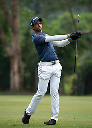 November 24, 2018 - Hong Kong, Hong Kong SAR, CHINA - Honma Hong Kong Open Golf 2018 at Hong Kong Golf Club Fanling. Rai hits the ball on the 11th fairway.Englishman Aaron Rai holds onto his clear lead in day 3 of the tournament. After breaking the course record in the last round Rai remains steady and clear of Englands Matthew Fitzpatrick and South Koreas Hyowon Park. (Credit Image: © Jayne Russell/ZUMA Wire)