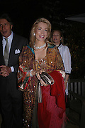 The Begum Inaara Aga Khan. Cartier dinner after thecharity preview of the Chelsea Flower show. Chelsea Physic Garden. 23 May 2005. ONE TIME USE ONLY - DO NOT ARCHIVE  © Copyright Photograph by Dafydd Jones 66 Stockwell Park Rd. London SW9 0DA Tel 020 7733 0108 www.dafjones.com
