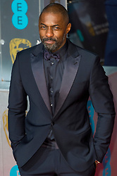 © Licensed to London News Pictures. 14/02/2016. London, UK. IDRIS ELBA arrives on the red carpet at the EE British Academy Film Awards 2016 Photo credit: Ray Tang/LNP