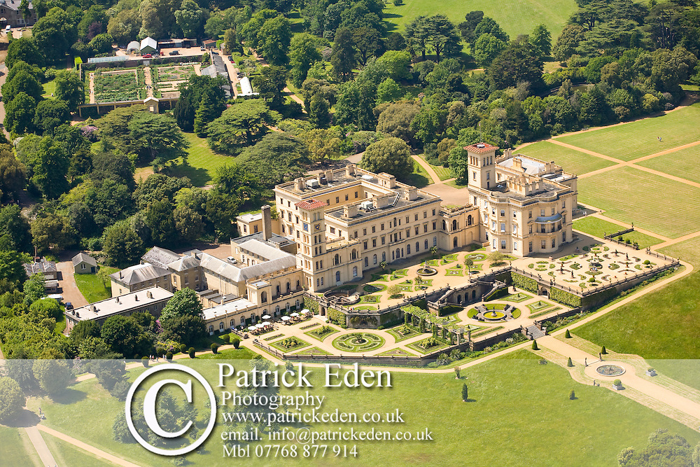 Aerial, Walled garden, Osborne House, East Cowes, Isle of Wight, England Photographs of the Isle of Wight by photographer Patrick Eden photography photograph canvas canvases
