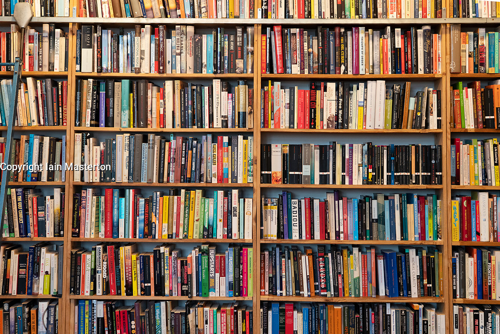Rows of books inside St Georges secondhand bookshop in Prenzlauer berg, Berlin, Germany