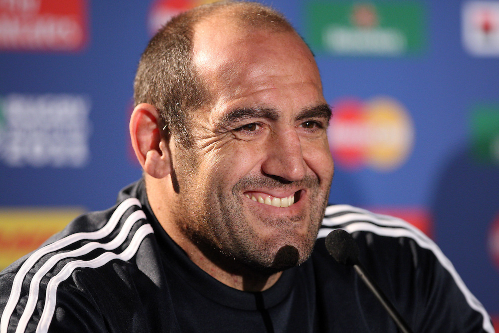 Argentina's Mario Ledesma at their Rugby World Cup captains run press conference, Rugby Park, Invercargill, New Zealand, Friday, September 16, 2011. Credit:SNPA / Dianne Manson.