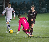 Rory Currie scored Hearts second goal - Hearts v Dundee under 20s in the SPFL Development League at Ochilview, Stenhousemuir. Photo: David Young<br /> <br />  - &copy; David Young - www.davidyoungphoto.co.uk - email: davidyoungphoto@gmail.com