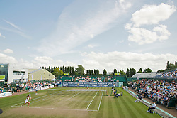 NOTTINGHAM, ENGLAND - Saturday, June 13, 2009: Olga Savchuk (UKR) takes on Laura Robson (GBR) on day three of the Tradition Nottingham Masters tennis event at the Nottingham Tennis Centre. (Pic by David Rawcliffe/Propaganda)