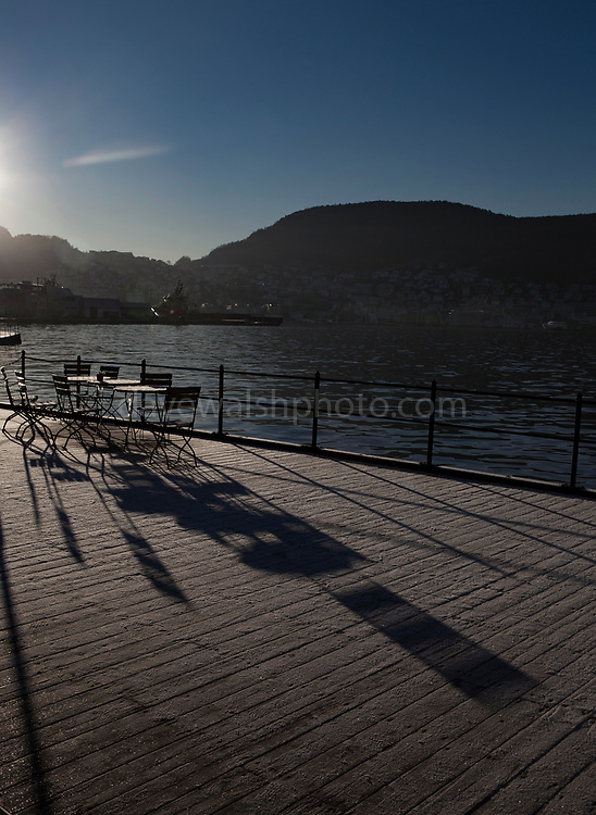 Winter shadows in Verftet, Nordnes, Bergen, Norway