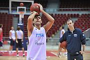 Danzica - Polonia 05 Agosto 2012 - TORNEO INTERNAZIONALE SOPOT CUP - Allenamento<br /> Nella Foto : PIETRO ARADORI<br /> Foto Ciamillo