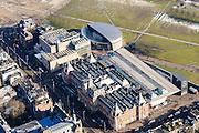 Nederland, Noord-Holland, Amsterdam, 28-10-2016; winters stadsgezicht, het Museumplein met Stedelijk Museum en Van Goghmuseum.<br /> Wintry townscape, the Museumplein with Stedelijk Museum, and Van Gogh Museum.<br /> luchtfoto (toeslag op standard tarieven);<br /> aerial photo (additional fee required);<br /> copyright foto/photo Siebe Swart