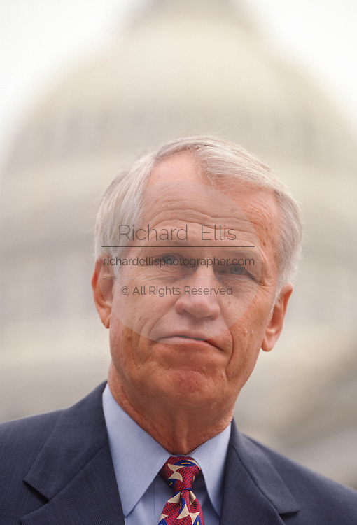 U.S. Congressmen Rep. Charles Stenholm a Congressional Blue Dog Democrat during a press conference July 17, 1998 in Washington, DC.