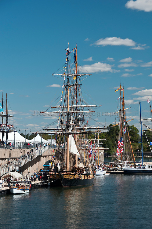 The Niagara, Tall Ship docked at the Old Port of Montreal, QC