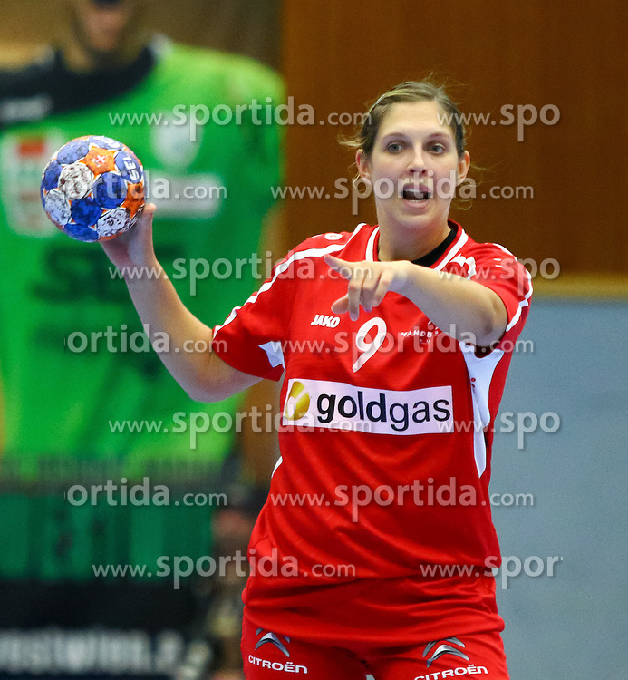 11.10.2015, BSFZ Südstadt, Maria Enzersdorf, AUT, EHF Euro 2016 der Frauen, Österreich vs Niederlande, Qualifikation, im Bild Laura Bauer (AUT)// during Women's EHF Euro 2016 qualifier match between Austria and the Netherlands at the BSFZ Südstadt, Maria Enzersdorf, Austria on 2015/10/11, EXPA Pictures © 2015, PhotoCredit: EXPA/ Sebastian Pucher