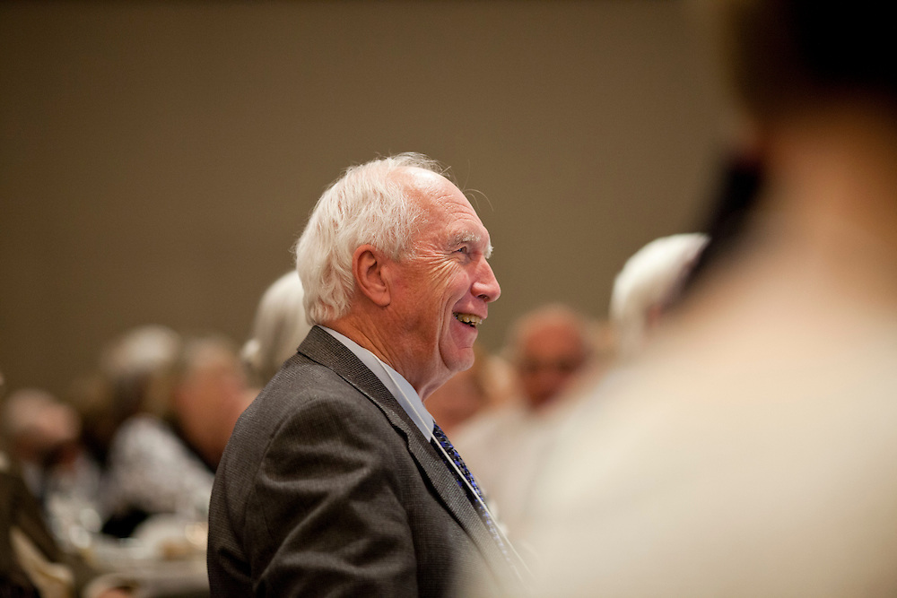 at a symposium honoring the career of Dr. Donald Gurnett, professor of physics at the University of Iowa's Levitt Center for University Advancement in Iowa City on Saturday, October 17, 2015. (Rebecca F. Miller/Freelance for The Gazette)