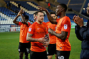 Southend Utd players celebrate after the EFL Sky Bet League 1 match between Peterborough United and Southend United at London Road, Peterborough, England on 3 February 2018. Picture by Nigel Cole.