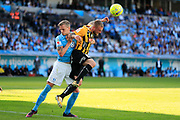 MALMO, SWEDEN - MAY 20: Soren Rieks of Malmo FF and Alexander Faltsetas of BK Hacken during the Allsvenskan match between Malmo FF and BK Hacken at Malmo Stadion on May 20, 2018 in Malmo, Sweden. Photo by Lars Dareberg/Ombrello ***BETALBILD***