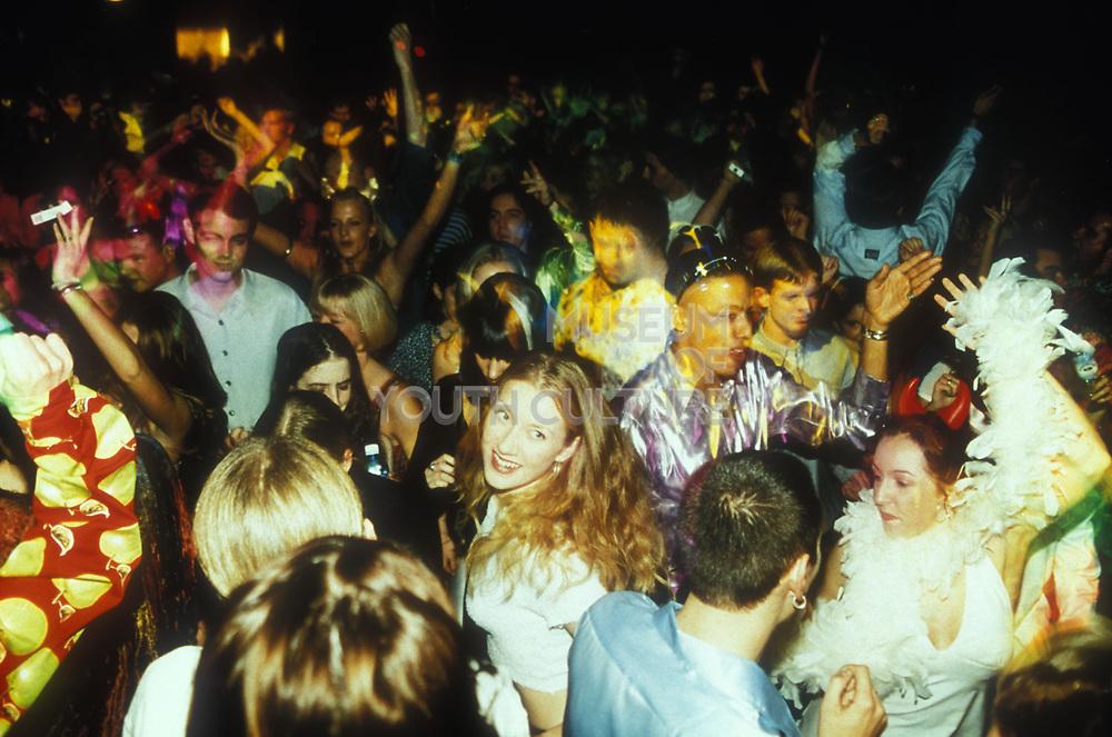 Crowd dancing at 'clockwork orange' camden town,1995