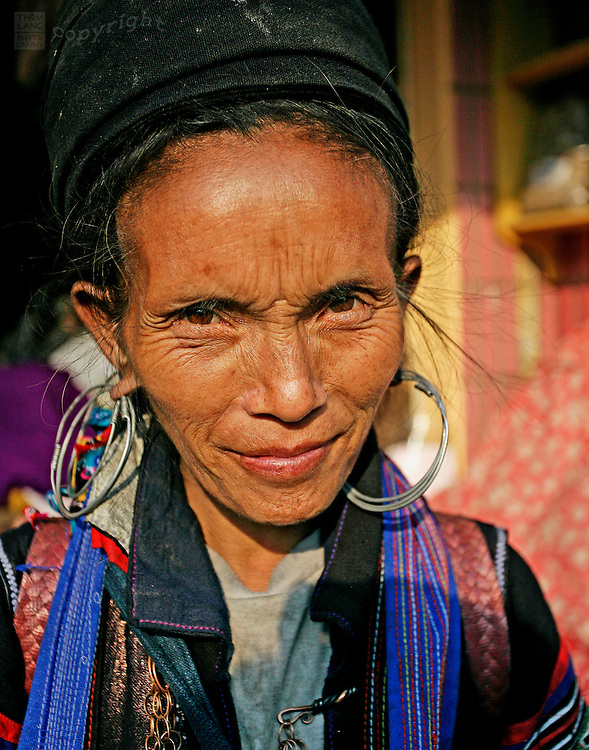 Close up of hmong woman in Sapa Vietnam