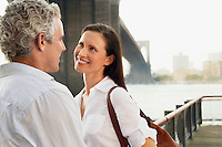 Couple by Bridge and River