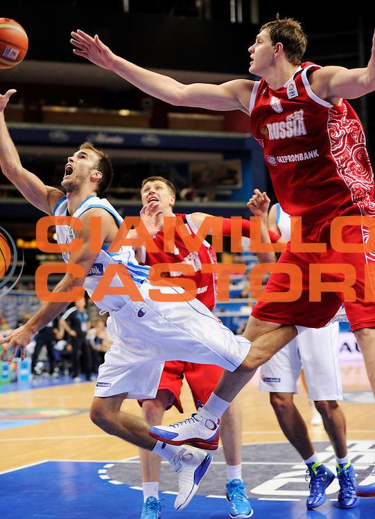 DESCRIZIONE : Vilnius Lithuania Lituania Eurobasket Men 2011 Second Round Grecia Russia Greece Russia<br /> GIOCATORE : Nick Calathes<br /> SQUADRA : Grecia Greece<br /> EVENTO : Eurobasket Men 2011<br /> GARA : Grecia Russia Greece Russia<br /> DATA : 10/09/2011<br /> CATEGORIA : tiro<br /> SPORT : Pallacanestro <br /> AUTORE : Agenzia Ciamillo-Castoria/JF Molliere<br /> Galleria : Eurobasket Men 2011<br /> Fotonotizia : Vilnius Lithuania Lituania Eurobasket Men 2011 Second Round Grecia Russia Greece Russia<br /> Predefinita :