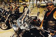 Portrait of Bikers Near Beach, Miami, Florida, USA