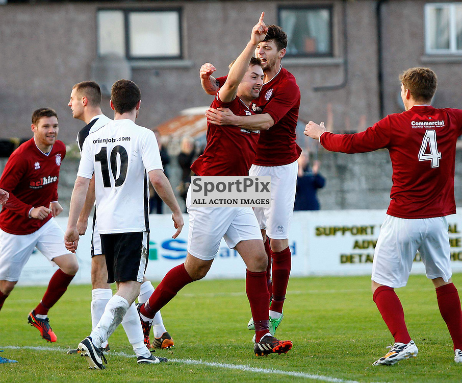 Colin Leiper celebrates putting Linlithgow 2-1 ahead<br /> in the Scottish Cup 2nd Round Match at Grant Street Park(c) Andrew West | SportPix.org.uk