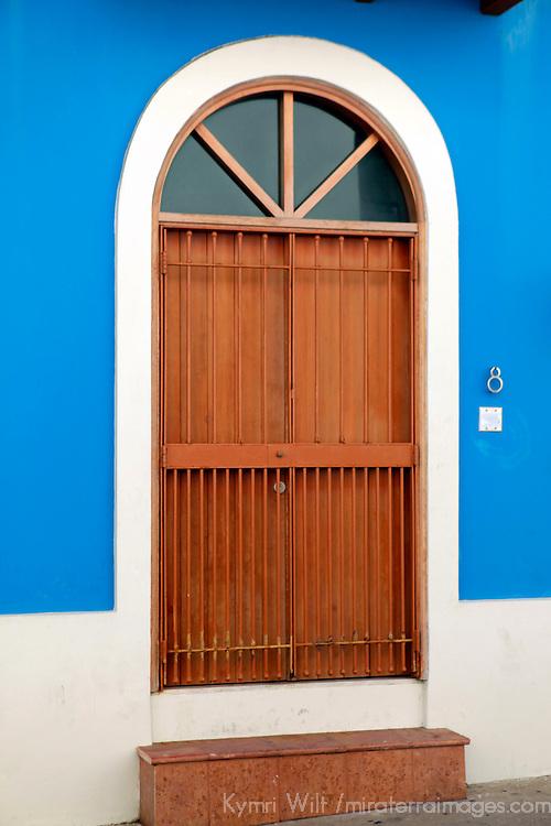 USA, Puerto Rico, San Juan. Doorways of Old San Juan, Puerto Rico.
