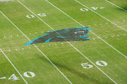 November 25, 2018. Panthers vs Seahawks. Panthers logo at midfield