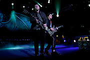 Avenged Sevenfold performing at the Blossom Music Center in Cuyahoga Falls, OH on the Uproar Tour on Sept. 21, 2011