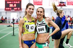 womens One Mile, BAA, adidas, Dana Giordano, New Balance, Lianne Farber<br /> Boston University Scarlet and White<br /> Indoor Track & Field, Bruce LeHane , adidas, BAA,