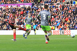 March 16, 2019 - Sunderland, Tyne and Wear, United Kingdom - Sunderland's Lewis Morgan shoots during the Sky Bet League 1 match between Sunderland and Walsall at the Stadium Of Light, Sunderland on Saturday 16th March 2019. (Credit: Steven Hadlow | MI News) (Credit Image: © Mi News/NurPhoto via ZUMA Press)