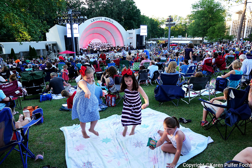 A Patriotic Pops celebration at the Levitt Shell in Memphis, Tennessee. The Levitt Shell presents 50 free concerts every year, with performances by nationally and internationally touring musicians from all over the world.