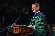 Interim President David Descutner speaks at undergraduate commencement. Photo by Ben Siegel