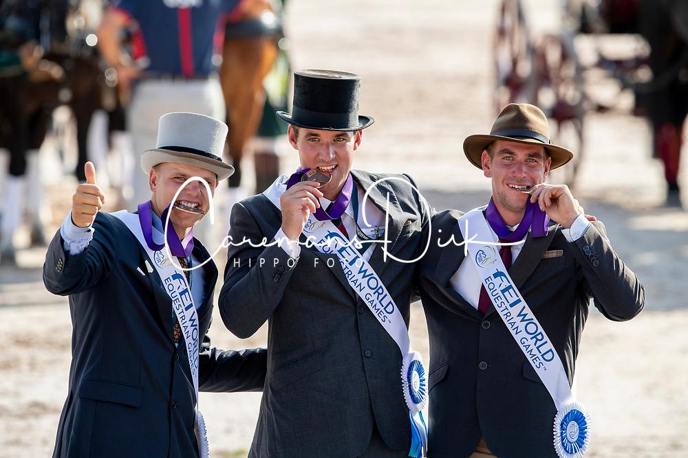 Team BEL, Degrieck Dries, Geerts Glenn, Simonet Edouard<br /> World Equestrian Games - Tryon 2018<br /> © Hippo Foto - Dirk Caremans<br /> 23/09/2018