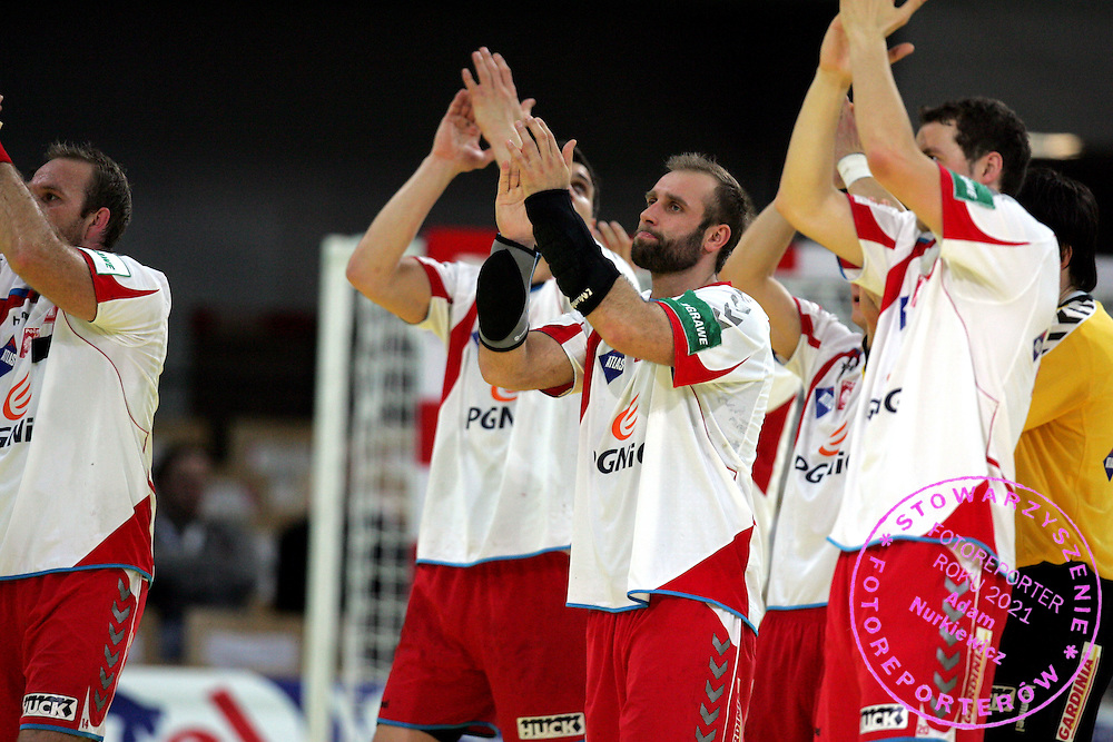 GEPA-24011079141 - INNSBRUCK,AUSTRIA,24.JAN.10 - SPORT DIVERS, HANDBALL - EHF Europameisterschaft, EURO 2010, Laenderspiel, Polen vs Spanien. Bild zeigt den Jubel von Polen. Foto: GEPA pictures/ Amir Beganovic.FOT. GEPA / WROFOTO.*** POLAND ONLY !!! ***