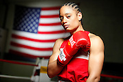 6/24/11 2:54:32 PM -- Colorado Springs, CO. -- A portrait of U.S. Olympic lightweight boxer Queen Underwood, 27, of Seattle, Wash. who will be competing for her fifth title. She began boxing in 2003 and was the 2009 Continental Champion and the 2010 USA Boxing National Champion. She is considered a likely favorite to medal at the 2012 Summer Olympics in London as women's boxing makes its debut as an Olympic sport. -- ...Photo by Marc Piscotty, Freelance.