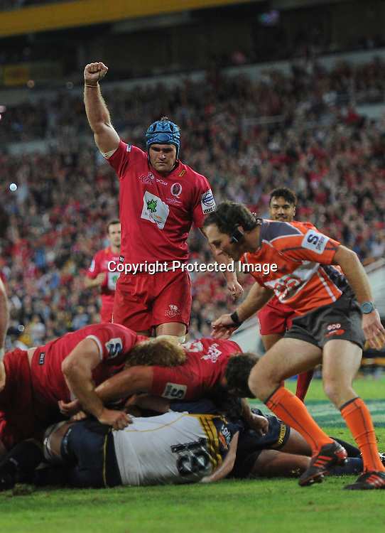 20/4/2013 ,JAMES HORWILL  in action during the QUEENSLAND REDS V ACT BRUMBIES Super Rugby game at Suncorp Stadium in  Brisbane.  Image is for Editorial Use Only. Any further use or individual sale of this image must be cleared by application to the Manager Sports Media Publishing (SMP Images). PHOTO: STEVE BELL/SMP IMAGES