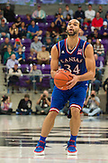 FORT WORTH, TX - FEBRUARY 6: Perry Ellis #34 of the Kansas Jayhawks shoots a three-pointer against the TCU Horned Frogs on February 6, 2016 at the Ed and Rae Schollmaier Arena in Fort Worth, Texas.  (Photo by Cooper Neill/Getty Images) *** Local Caption *** Perry Ellis