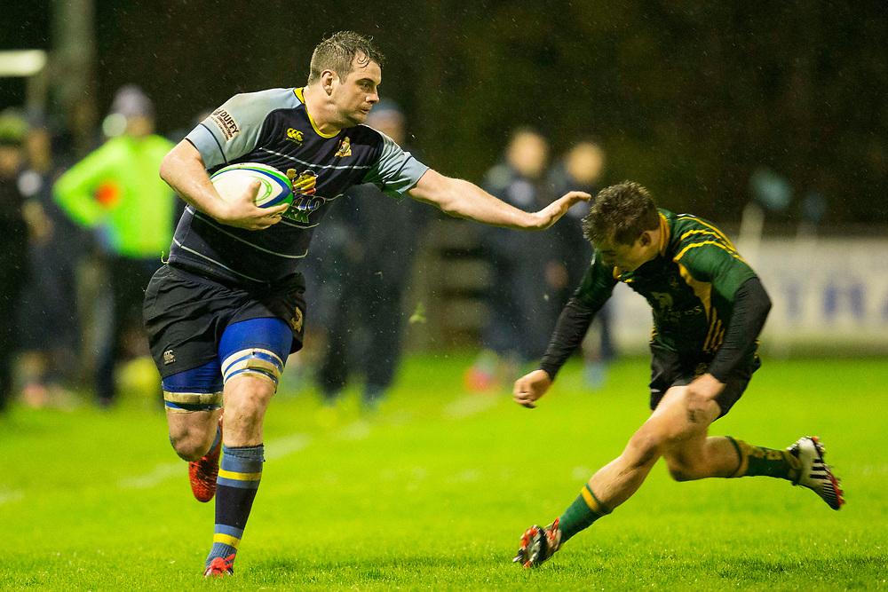11/11/2016, AIL Division 2C Rugby at Old Balrreask, Navan<br /> Navan RC vs Boyne RC<br /> Bryan McKeever (Navan RC) & Ronan O`Brien (Boyne)<br /> Photo: David Mullen /www.cyberimages.net / 2016<br /> ISO: 12800; Shutter: 1/500; Aperture: 2.8; <br /> File Size: 3.5MB<br /> Print Size: 8.6 x 5.8 inches