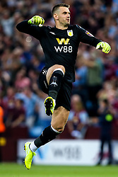 Thomas Heaton of Aston Villa celebrates Wesley of Aston Villa scoring a goal to make it 1-0 - Mandatory by-line: Robbie Stephenson/JMP - 23/08/2019 - FOOTBALL - Villa Park - Birmingham, England - Aston Villa v Everton - Premier League