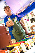 Food Vendor At The Anaheim Farmers Market