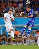 Jack Wilshere of England and Ciro Immobile of Italy