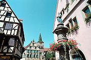 Frankrijk, Elzas, 7-7-2002Het barokke wijnstadje Turckheim. Vakwerkhuizen.Architectuur, dorpsgezichtFoto: Flip Franssen/Hollandse Hoogte