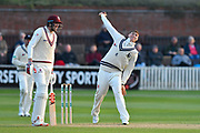 Matt Renshaw of Kent bowling during the Specsavers County Champ Div 1 match between Somerset County Cricket Club and Kent County Cricket Club at the Cooper Associates County Ground, Taunton, United Kingdom on 7 April 2019.
