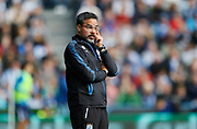 Huddersfield Town's Head Coach David Wagner during the Premier League match between Huddersfield Town and Tottenham Hotspur at the John Smiths Stadium, Huddersfield, England on 30 September 2017. Photo by Paul Thompson.