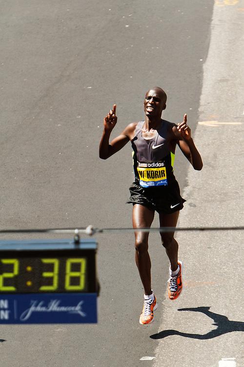 Wesley Korir wins Boston Marathon