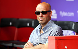 Exeter City Manager Paul Tisdale takes his seat and wears sunglasses for the preseason friendly against Bristol Rovers ahead of the Sky Bet League Two season - Mandatory by-line: Robbie Stephenson/JMP - 16/07/2016 - FOOTBALL - St James Park - Exeter, England - Exeter City v Bristol Rovers - Pre-season friendly