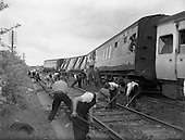 1960 - Train derailed at Killucan, Co. Westmeath, clean up operation